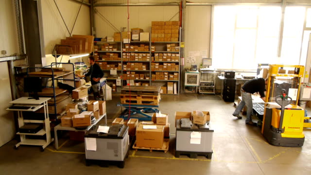 warehouse shipping and package area time lapse - moving image stock videos & royalty-free footage