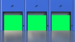 warehouse shutter doors open