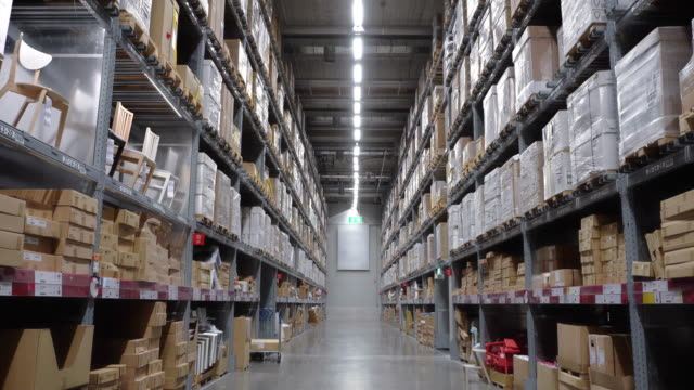 warehouse with packages - household equipment stock videos & royalty-free footage