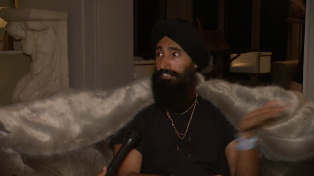 waris ahluwalia on what drew him to rh new york tonight, what his favorite rh piece has been over the years, what stylistic traits continue to bring... - audio hardware stock videos & royalty-free footage