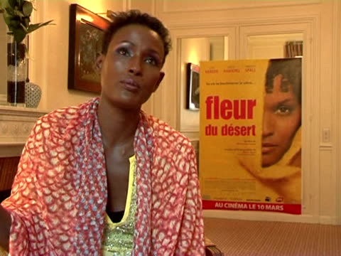 waris dirie's story is exceptional from a nomadic life in somalia to a career as a supermodel but her message is universal desert flower the movie... - western europe stock videos & royalty-free footage