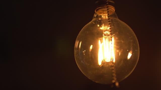 暖かい電球 - 発光ダイオード点の映像素材/bロール