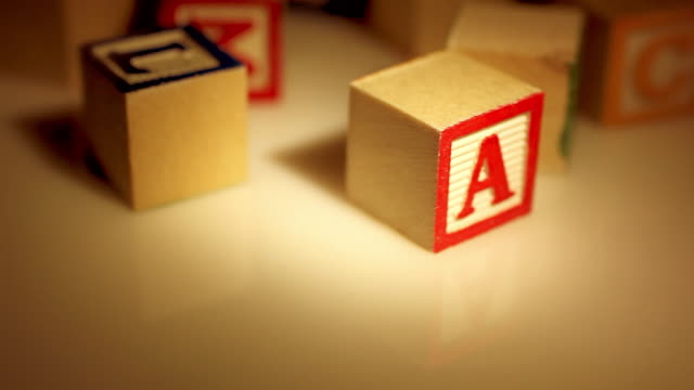 warm spotlight - abc learning blocks - capital letter stock videos & royalty-free footage