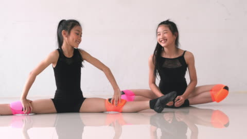 warm up : stretching - dance studio stock videos & royalty-free footage