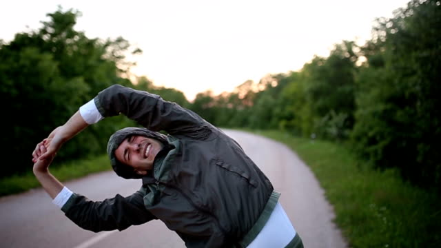 warm-up before running - warm up exercise stock videos & royalty-free footage