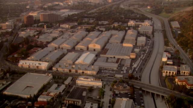 aerial warner bros studios, hollywood, california, usa - warner bros. stock videos & royalty-free footage
