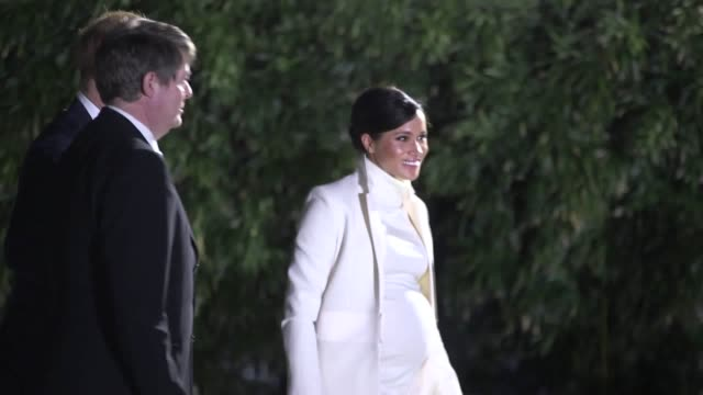 Flash photography The Duke and Duchess of Sussex arrive at the Natural History Museum in London to attend a gala performance of The Wider Earth Their...
