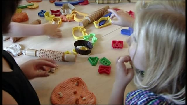 Warning over sharp decline in children's Sure Start centres R200090801 / Withington Old Moat Sure Start Centre INT Close shot of children playing in...