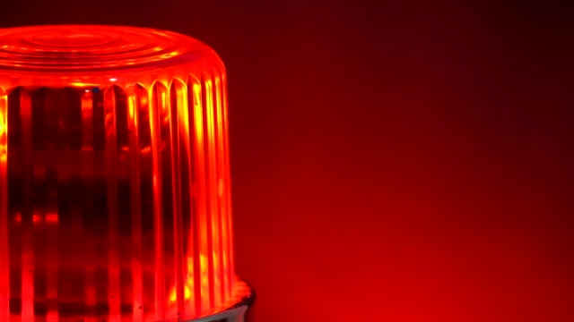 warning rotating red siren flashing lights - strobe light stock videos & royalty-free footage