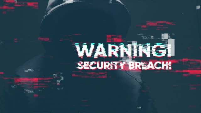 warning security breach - blockchain stock videos & royalty-free footage