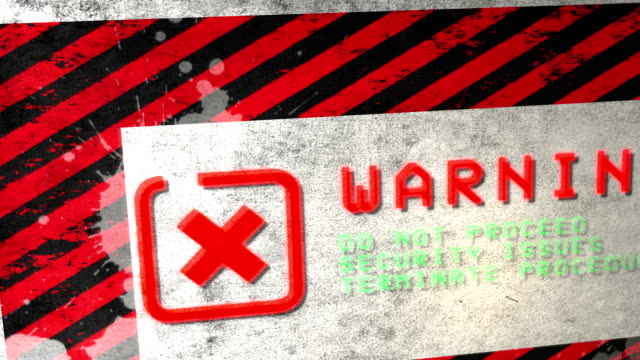 warning sign. hd - hazardous area sign stock videos & royalty-free footage