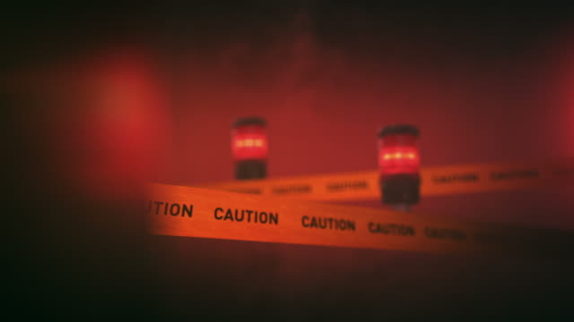 warning sign with flashing light reflection - danger stock videos & royalty-free footage