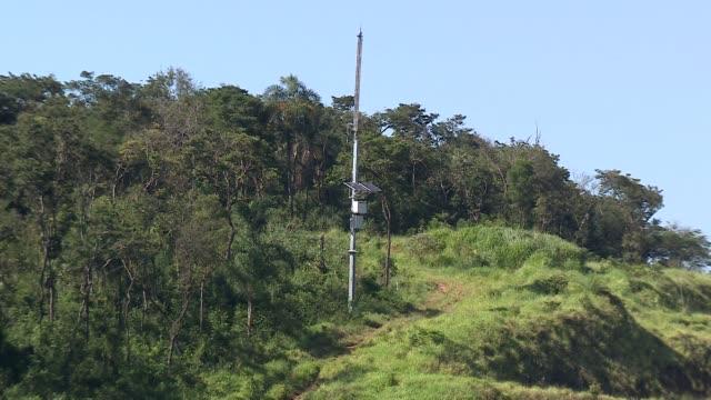warning system near collapsed mining tailings dam near brumadinho in minas gerais brazil - minas stock videos and b-roll footage
