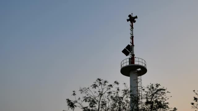 vídeos de stock e filmes b-roll de torre de aviso - prontidão