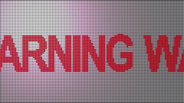 vídeos de stock e filmes b-roll de aviso - sinal de perigo sinal
