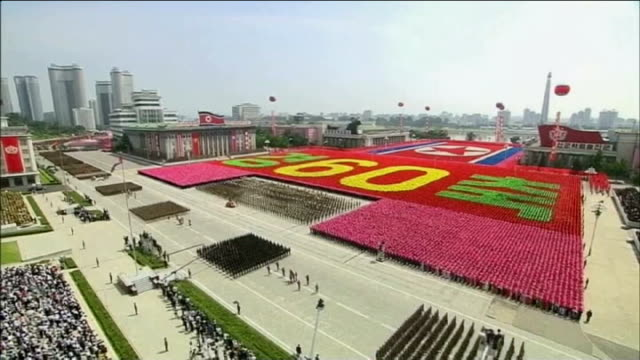un warns kim jongun over torture and mass killings t27071311 / tx north korea pyongyang ext various shots north korean soldiers marching in military... - korean war stock videos and b-roll footage