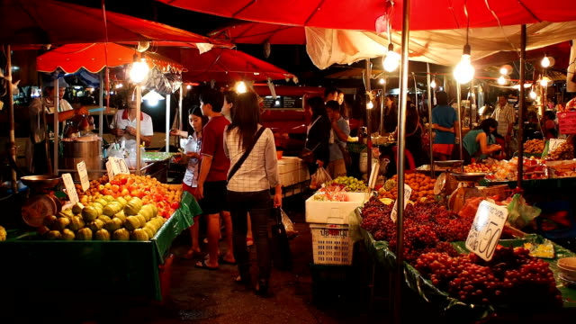 warorot night market in chiang mai thailand. - adulation stock videos & royalty-free footage