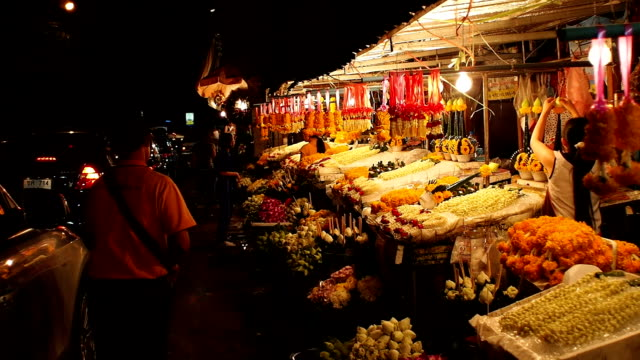 Warorot night market in Chiang Mai Thailand.