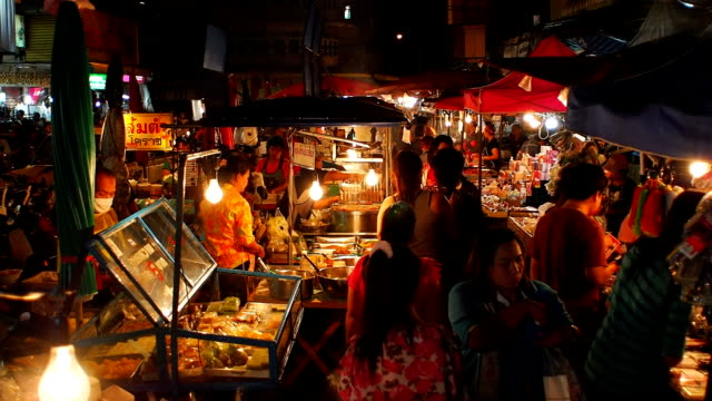 warorot night market in chiang mai thailand. - thailand stock videos & royalty-free footage