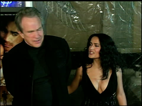 warren beatty and salma hayek at the 'ask the dust' los angeles premiere arrivals at the egyptian theatre in hollywood, california on march 3, 2006. - warren beatty stock videos & royalty-free footage