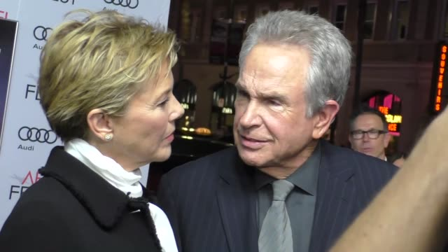 warren beatty annette benning at audi celebrates opening night of 'rules don't apply' at afi fest 2016 on november 10 2016 in hollywood california - annette bening stock videos & royalty-free footage