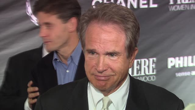 warren beatty at the 13th annual premiere women in hollywood at the beverly hilton in beverly hills california on september 20 2006 - beverly beatty stock videos & royalty-free footage