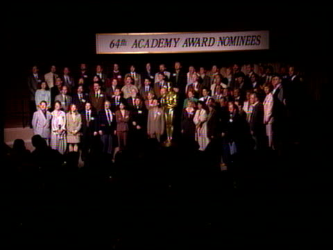 warren beatty at the 1992 academy awards luncheon at the beverly hilton in beverly hills california on march 17 1992 - beverly beatty stock videos & royalty-free footage