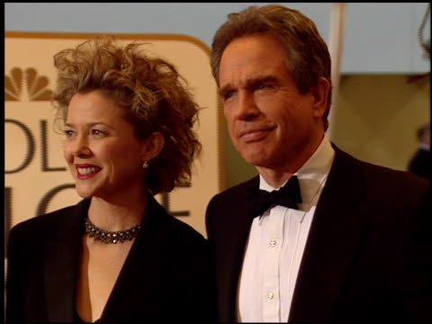 warren beatty at the 1999 golden globe awards at the beverly hilton in beverly hills california on january 24 1999 - beverly beatty stock videos & royalty-free footage
