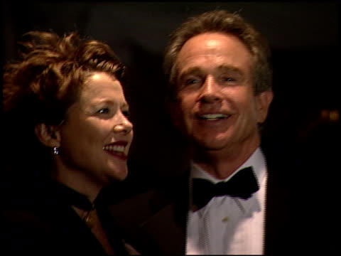 warren beatty at the 2000 golden globes dreamworks party at the beverly hilton in beverly hills california on january 23 2000 - beverly beatty stock videos & royalty-free footage