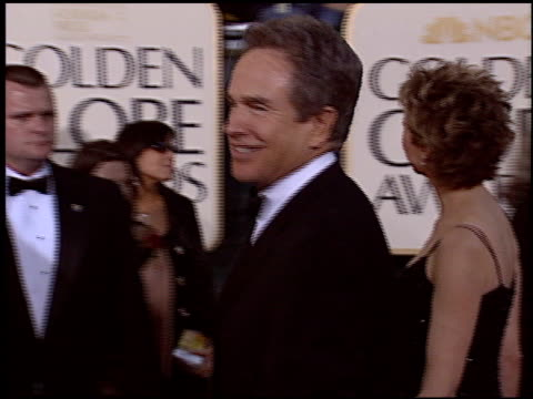 warren beatty at the 2005 golden globe awards at the beverly hilton in beverly hills california on january 16 2005 - beverly beatty stock videos & royalty-free footage