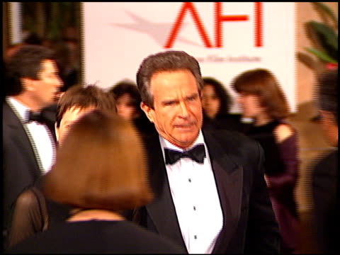 warren beatty at the afi honors honoring clint eastwood entrances at the beverly hilton in beverly hills california on march 1 1996 - beverly beatty stock videos & royalty-free footage