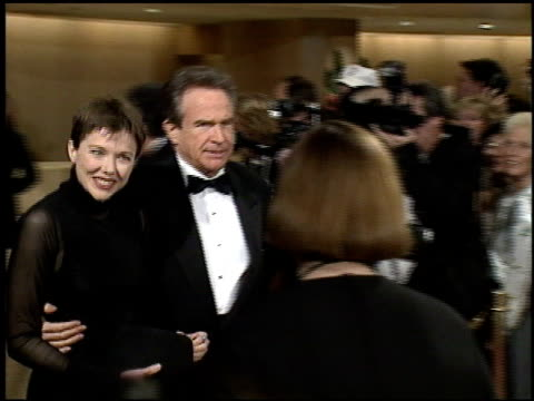 warren beatty at the afi honors honoring clint eastwood press room at the beverly hilton in beverly hills california on march 1 1996 - beverly beatty stock videos & royalty-free footage