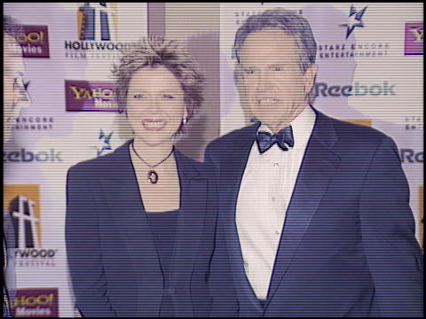 warren beatty at the hollywood film festival awards at the beverly hilton in beverly hills california on october 18 2004 - beverly beatty stock videos & royalty-free footage