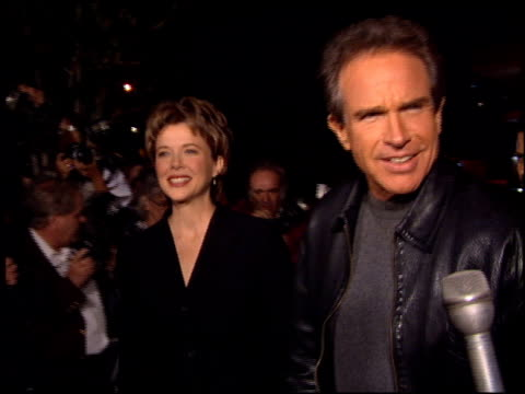 warren beatty at the 'love affair' premiere at dga theater in los angeles, california on october 13, 1994. - warren beatty stock videos & royalty-free footage