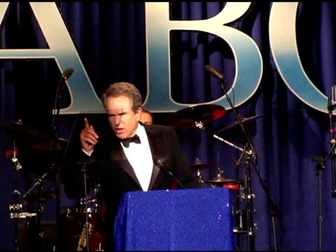 warren beatty on meeting john wayne at the 15th annual associates for breast cancer and prostate cancer studies 'winter wonderland' gala at the... - beverly beatty stock videos & royalty-free footage