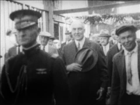 warren g harding walking with florence harding thru crowd / alaska / newsreel - 1923 stock videos & royalty-free footage