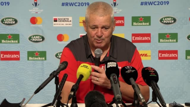warren gatland has wished england well for the world cup final against south africa and also hailed their stunning semi-final defeat of new zealand.... - wales stock videos & royalty-free footage