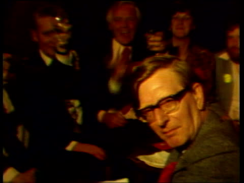 "warrington declaration; itn doug hoyle: :sof: ""because the tory - some effect."" doug hoyle and supporters celebration drinks ditto ditto roy jenkins... - wife stock videos & royalty-free footage"