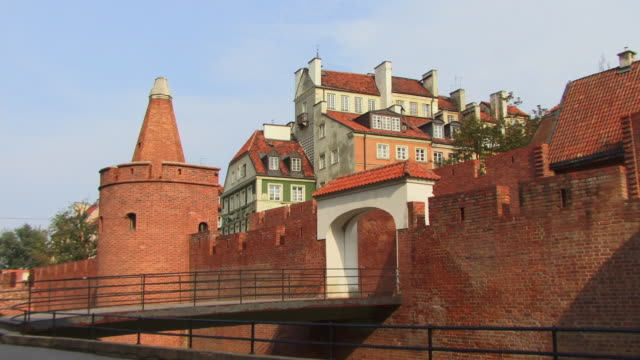 ms, zi, warsaw barbican, warsaw, poland - 16th century style stock videos & royalty-free footage