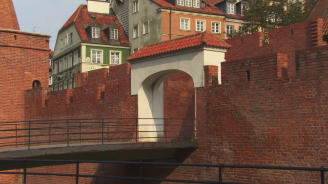 zo, ms, warsaw barbican, warsaw, poland - 16th century style stock videos & royalty-free footage