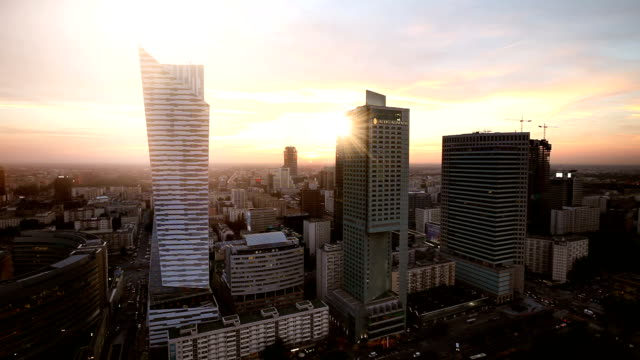 warsaw business district - warsaw stock videos & royalty-free footage