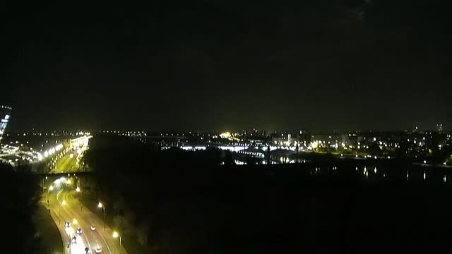 warsaw by night - cable stayed bridge stock videos & royalty-free footage