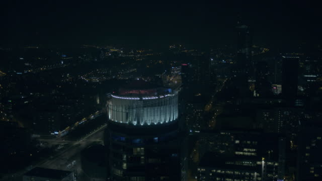 warsaw by night - warsaw stock videos and b-roll footage