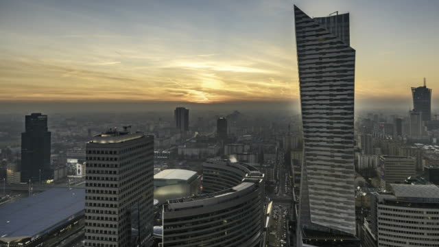 warsaw downtown - warsaw stock videos & royalty-free footage