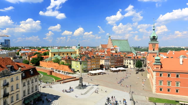 warsaw from above - warsaw stock videos and b-roll footage