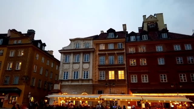 warsaw old town hyperlapse - poland stock videos & royalty-free footage