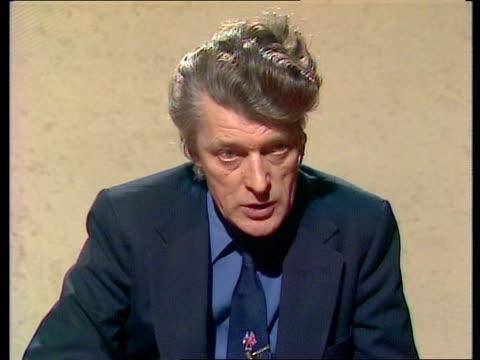 professor john erickson interview; scotland: glasgow: int professor john erickson 2-way interview sot video studio glasgow tx 6.1.83/c4n archive tape... - トレバー マクドナルド点の映像素材/bロール