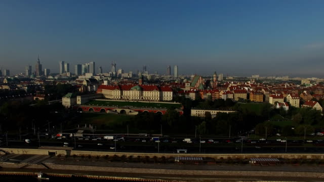 warsaw skyline - poland stock videos and b-roll footage