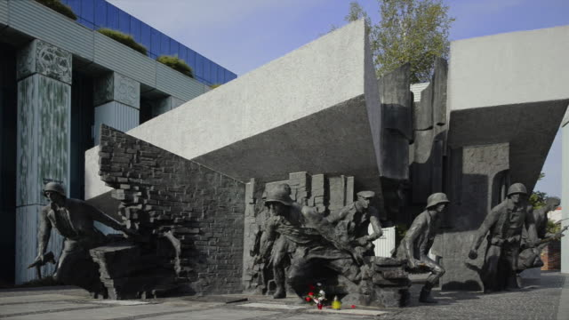 warsaw uprising monument - male likeness stock videos & royalty-free footage