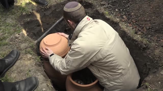 warsaw's jewish community holds a burial of damaged torah scrolls in the polish capital an ancient ritual that some believe had not been carried out... - torah stock videos and b-roll footage